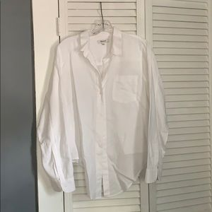 Madewell Front tie button down